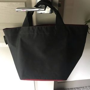 Authentic Herve Chapelier Back and Red Tote Bag